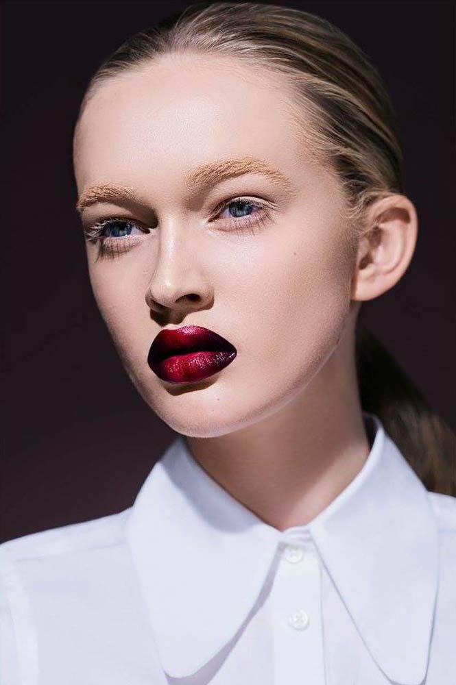 model-beauty-shoot-red-makeup-beautyful-portrait-visa-white-blouse-oopen-eyes