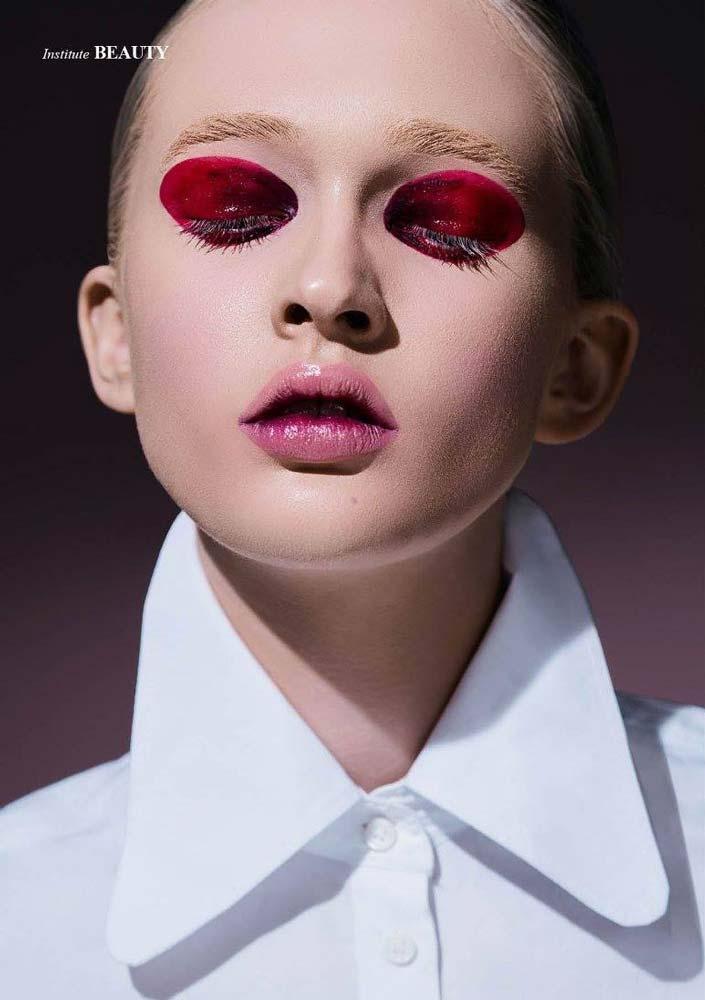 model-beauty-shoot-red-makeup-beautyful-portrait-visa-white-blouse